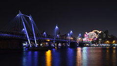 Jubilee Bridges and Charing Cross Station from Southbank (rq uk) Tags: rquk nikon d750 london night longexposure lights reflections nikond750 afsnikkor1835mmf3545ged jubileebridges charingcrossstation riverthames river