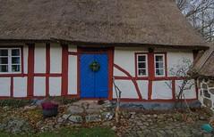 Entrance to the old cottage (frankmh) Tags: cottage oldcottage hgans kullaberg skne sweden outdoor halftimbered house