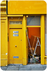 Work in progress (Caoimhë) Tags: door uk london yellow puerta unitedkingdom amarillo londres londra reinounido ltytr2 ltytr1 ltytr3