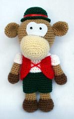 Vitellino tirolese amigurumi (Hobby Uncinetto) Tags: animal pattern crochet amigurumi calf animale schema vitello uncinetto hobbyuncinetto
