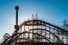 Coney Island Cyclone (PM Breakfast) Tags: nyc newyorkcity brooklyn coneyisland amusementpark sunburst rollercoaster brightonbeach cyclone