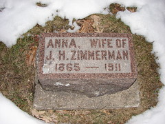 Anna Hagensick Zimmerman (Philip Weiss) Tags: grave genealogy mcgregoriowa pleasantgrovecemetery