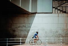 Sombra oblicua (Haydé Negro) Tags: detxu9one detxu 9one d9one detxu91 d91 haydé negro haydénegro nikon d60 nikond60 sombras sombra sadow sadows oblique oblicua bicicleta bici bike bicycle rider ruedas rueda bilbo bilbao vizcaya bizkaia sport deporte sports deportes action acción paseo puente deusto escaleras azul blue sepia s sb aw ría lineas linea linñes paralelas detxu90ne nopinterest nofacebook haydenegro haydenegrocom foto fotografía photo photography favoritas cine cinematográfico película fav sbig