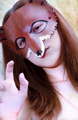 Fox (TheWicksPhotos) Tags: portrait girl animal vintage nude foxy erotic mask lolita fox handpainted sinn growl foxes ferocious nonnude implied sfw lolitasinn