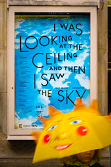 I was looking at the ceiling and then... (vg__) Tags: sky sun umbrella text utata utata:project=ip174
