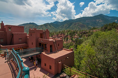 Cliff Dwellings (hemal mamtora) Tags: park blue sky people cliff snow mountains green colors beautiful clouds america landscape photography nikon scenery colorado gorgeous tokina roofs national seeing sight railing ladders dwellings d90 1116mm