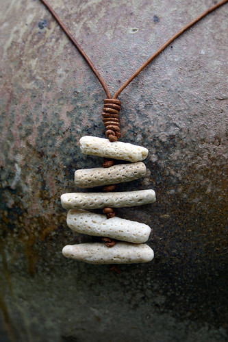 Rib Cage Coral Necklace