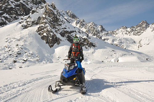 Snowmachining at Hatcher Pass