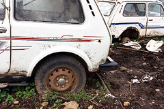 abandoned cars (Mikel Martnez de Osaba) Tags: old cars abandoned broken car neglect junk rust antique rusty dirty retro abandon forgotten vehicle aged junkyard wreck damaged scrap abandonment obsolete corroded