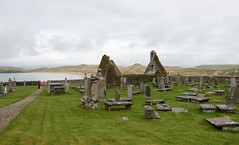 245-20130511_Faraid Head walk-Sutherland-Balnakeil Church-with Faraid Head beyond (Nick Kaye) Tags: church landscape coast scotland highlands sutherland