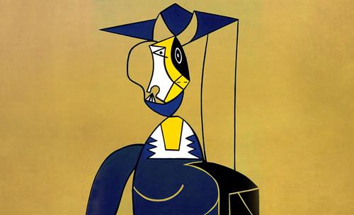 "Mujer en Gris, caracterización de Pablo Picasso (1942), recreación de Roy Lichtenstein (1962). • <a style=""font-size:0.8em;"" href=""http://www.flickr.com/photos/30735181@N00/8805269565/"" target=""_blank"">View on Flickr</a>"
