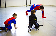 Superheroparty-2 (The_cheeseman) Tags: kids dance spiderman batman superheros