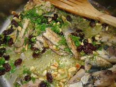 Pasta with Sardines 3 (Couscous & Consciousness) Tags: fish recipe lemon raisins pasta fennel sardines preservedlemons