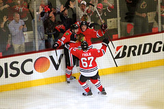 Goal: Marcus Kruger (the_mel) Tags: chicago hockey nhl blackhawks playoffs unitedcenter redwings detroitredwings semifinals chicagoblackhawks stanleycupplayoffs westernconference marcuskruger danielcarcillo michaelfrolik