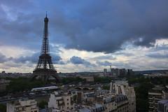 Paris (Marie-Paola Bertrand-Hillion) Tags: sky paris france tower clouds view eiffel shangrila