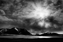On to Grundarfjordur (Mute*) Tags: bw cloud sun mountain lake snow monochrome landscape iceland fjord snfellsnes grundarfjrur snaefellsnes grundarfjordur sigma35mmf14 sigma35mmf14dghsm