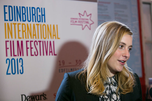 Greta Gerwig outside the Filmhouse before a screening of her film, Frances Ha