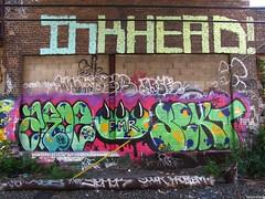 Aroe77 Claw Sekt Inkhead (soulroach) Tags: nyc ny graffiti queens claw sekt pms trackside inkhead tfs fmr imok aroe77