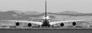 A380 preparing to depart SFO