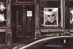 I'll go anywhere anytime... (f_bertrand) Tags: bw art film gallery montreal taxi travisbickle taxidriver