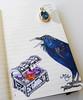 Raven & Treasure Chest (Milagritos9) Tags: luna treasurechest birdportrait birdillustration illustratedjournal silverbird ravenpoem birdjournal inspirationaljournal cofredeltesoro moleskineartpages ravenillustration ravenportrait moleskinebirdproject moleskinebirdsjournal dibujocuervo ravenjournal moleskinediary2013 milagritosflores ravenjewels