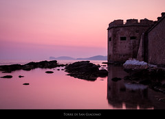 Torre di San Giacomo (m@ty2011) Tags: sardegna camera trip travel blue light sunset italy color travelling tourism stone architecture canon buildings island photography eos islands town ancient san holidays europe exposure flickr mediterranean sardinia torre tour post image photos antique sigma places national photograph adobe hour processing di tradition process turismo touristic lightroom alghero bracketing maty travelphotography travelphoto 550d efex maty2011 diacomo