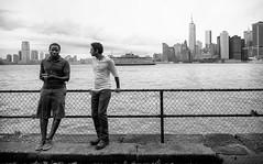 Worldly Philosophers (mkc609) Tags: street nyc newyorkcity urban blackandwhite bw ny newyork blackwhite candid streetphotography xe1 fujixe1