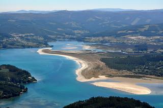 Playa de Morouzos en la Ría de Ortigueira