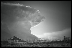 Giant Mushroom (Explored! 19-Aug-2013) (Neil Tackaberry) Tags: cloud thunder weather irish ireland sky storm countykerry cokerry county co kerry landscape greyscale bw cumulonimbus mushroom north northkerry skyscape wow westcoastofireland irishwestcoast southwestofireland irishsouthwest southwestcoastofireland irishsouthwestcoast monochrome explored atmosphere atmospheric stormy winter isolated cell anvil meteorology neilt neiltackaberry neil tackaberry outdoor blackandwhite