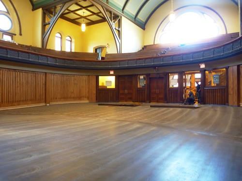 Fully stained floors (orchestra level)