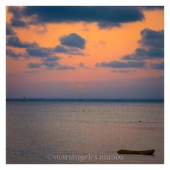 PUESTA DE SOL NARANJA (mamherrera) Tags: sunset espaa orange costa canon mar playa paisaje murcia cielo lamanga naranja airelibre orilladelmar