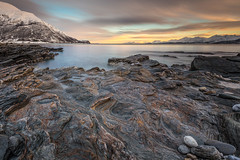 oldervik coast - sunrise (christian.denger) Tags: norway sunrise canon landscape coast soft 09 lee fjord grad haida ullsfjord troms eos6d oldervik canon1635f4