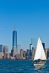 Sailboat and Chopper (SamuelWalters74) Tags: newyorkcity newyork unitedstates manhattan worldtradecenter financialdistrict worldfinancialcenter nycskyline newyorkharbor 7worldtradecenter freedomtower 1worldtradecenter 1wtc brookfieldplace oneworldtradecenter 4worldtradecenter