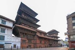 The nine-storey Basantapur Tower, Hanuman Dhoka Palace (Durbar Square)