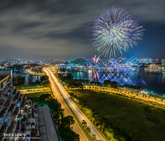 Higher Than Heaven (t3cnica) Tags: city longexposure seagames urban architecture clouds landscapes singapore downtown fireworks cityscapes urbanexploration dri nightscapes goldenmile beachroad leadinglines urbandwelling dynamicrangeincrease nicollhighway exposureblending digitalblending seagames2015