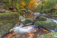 Dartmoor Stream (Jerry Fryer) Tags: devon dartmoorstream riverplym autumn eddy whirlpool longexposure foam landscape rocks mossy beechwood woodland nature trees river 5dmk2 ef1635mmf4l polariser 6ndsoft leefilters