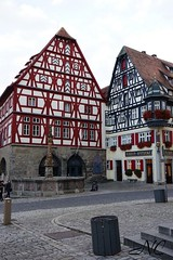 Half timbered buildings (Nancleve) Tags: germany rothenburg vacation walls walledcity halftimbered houses buildings gates
