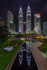 Inception. - Kuala Lumpur. (Tony Kioh JunHui) Tags: vertorama panorama landscape cityscape city kuala lumpur malaysia urban urbanscape nightscape nightphotography photography klcc asia sigma sony petronas reflection symmetry sunset blue hour street surreal outdoor love long exposure water explore travel travelscape skyline dusk buildings nightlife beautiful clouds sigma1020 sirui sky inspiration