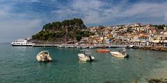 Parga (Thomas Mulchi) Tags: parga epirus greece 2016 traditionalhouses boats sea summer castle bay gr