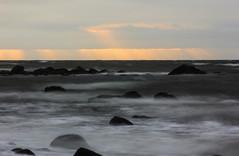 Overcast Morning (BrianWalsh12) Tags: longexposure explorecanada beach landscape beachscape sea nature water ocean outdoors landscapephotography naturephotography noperson explore newbrunswick