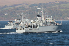 HMS Hurworth (M39) & EML Sakala (M314) (corax71) Tags: hurworth m39 huntclass hunt royal rn exercise joint warrior 162 jw162 jw ship shipping boat vessel marine maritime transport transportation warship war armed force forces military naval nato cloch point gourock inverclyde scotland great britain united kingdom gb uk ens eml sakala m314 sandownclass sandown class minesweeper minehunter mine hunter sweeper countermeasures estonian navy estonia hms inverness m102 merevã¤gi