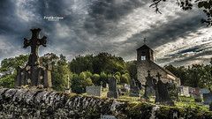 On ira tous au Paradis ! (Tra Te E Me (TTEM)) Tags: lumixfz1000 photoshop cameraraw franchecomt jura mirebel glise church cimetire cemetery tombes graves hdr ciel sky nuages clouds