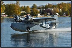 N703 B-81 LLC (Available for Flight Instruction) (Bob Garrard) Tags: n703 b81 llc grumman goose g21a us navy buno 37828 united states lake hood anchorage alaska alh palh