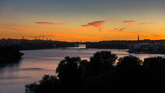 Smoking Clouds [Explore October 5 2016] (redfurwolf) Tags: sthlm stockholm vsterbron sweden europe sunset cloud clouds water church bridge redfurwolf sony rx100m4
