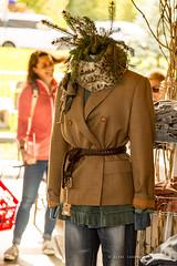 Hip Display (DiPics) Tags: fall 2016 flea market october 32clothes attire finery greenery evergreen needles jacket blazer jeans cheeta wrap cuffed ruffles belt belted display 52in2016