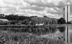 Nature in B&W /Natuur in Z&W (jo.misere) Tags: bw zw reflections reflecties wolken clouds