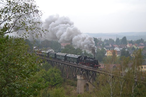 86 1333-3  auf dem Mansfelder Viadukt