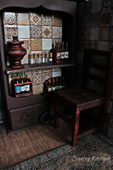 Country Kitchen 1:6 (Verle.) Tags: room roombox 16 112 mini dall fashionroyalty dolls rustickitchen bottles jars samovar alcohol miniature carpet chair cupboard