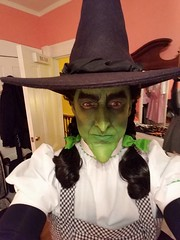 Sean Brown as the Wicked Witch of the West dressed as Dorothy Gale, Halloween 2016 (Halloween in Oz) Tags: seanbrown wickedwitchofthewest halloween2016 salem ma hawthornehotelcostumeball sevendeadlysins glinda oz halloweeninoz