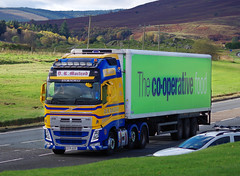 D R Macleod of Stornoway Volvo FH SY15AXX on the A9 at Bruar, 18/10/16 (andyflyer) Tags: drmacleod stornoway volvofh sy15axx a9 hgv lorry truck transport haulage roadhaulage